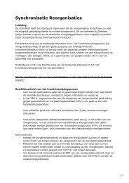 Synchronisatie Reorganisaties - ProDef