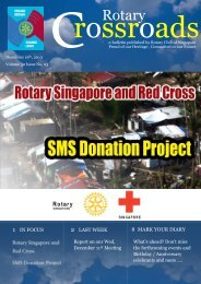 Vol.50 Issue 22 - the Rotary Club of Singapore