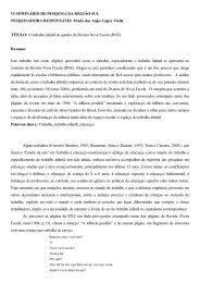 O trabalho infantil no quadro da Revista Nova Escola (RNE).