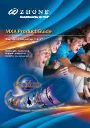 New MXK product guide - Zhone Technologies