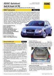 Audi A4 Avant 2.0 TDI - ADAC