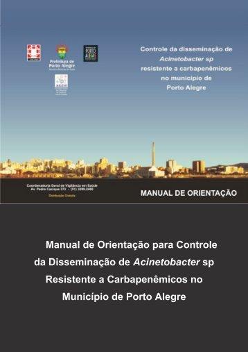 Orientação para controle da disseminação do Acinetobacter