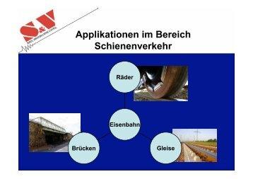 Applikationen im Bereich Schienenverkehr