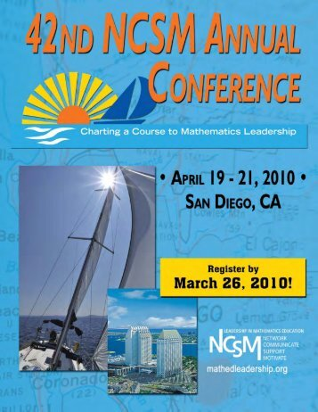 42nd NCSM Annual Conference Preliminary Brochure