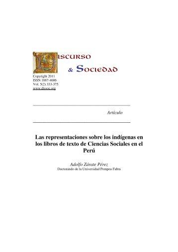 Las representaciones sobre los indígenas en los libros de texto de ...