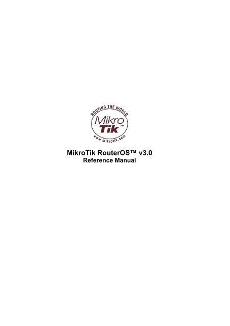 mikrotik reference manual v3