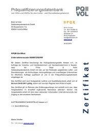 Z e r t i f i k a t - Bretz & Hufer Gebäudesystemtechnik GmbH