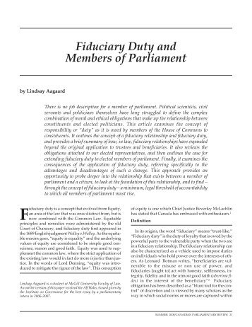 fiduciary obligation essay Includes foot notes, bio and finalised version of the take home exam for what is a  fiduciary.