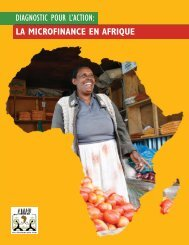 Africa Diagnostic French.indd - Le Forum d'African Microfinance ...