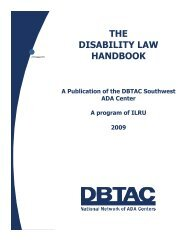 THE DISABILITY LAW HANDBOOK - Cystinosis Research Network