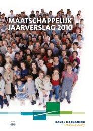 maatschaPPELIJK JaaRVERsLaG 2010 - Royal Haskoning