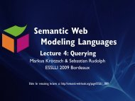 Querying - Foundations of Semantic Web Technologies