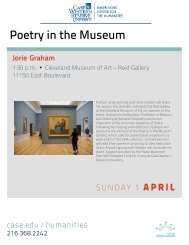 Poetry in the Museum - Baker-Nord Center for the Humanities ...