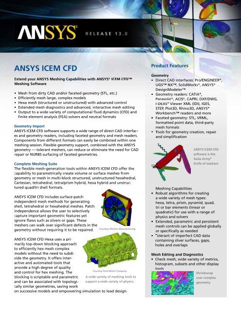 ANSYS ICEM CFD - PhilonNet Engineering Solutions