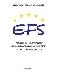 Poradnik dla Beneficjentów - Wojewódzki Urząd Pracy w Rzeszowie
