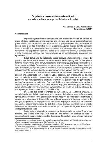 Os primeiros passos da telenovela no Brasil: um estudo sobre a ...
