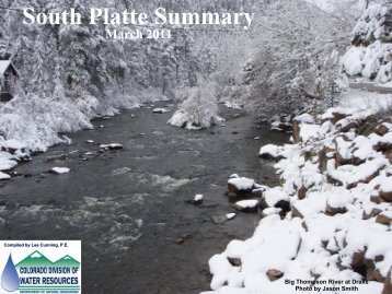 South Platte River Summary - March 2011 - Colorado Division of ...