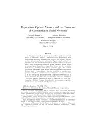 Reputation, Optimal Memory and the Evolution of Cooperation in ...