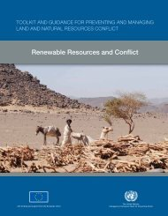 Renewable resources - Disasters and Conflicts - UNEP