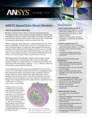 ANSYS SpaceClaim Direct Modeler - PhilonNet Engineering Solutions