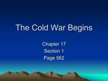 chapter 17 the cold war begins Download and read chapter 17 section 1 the cold war begins answers chapter 17 section 1 the cold war begins answers chapter 17 section 1 the cold war begins answers.