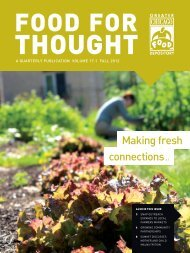 Making fresh connections p.4 - Greater Chicago Food Depository