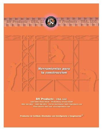 Herramientas para la construcción - BN Products