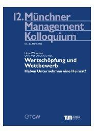 Wertschöpfung und Wettbewerb - Münchner Management Kolloquium