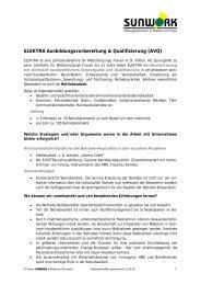 ELEKTRA Ausbildungsvorbereitung & Qualifizierung ... - gendernow