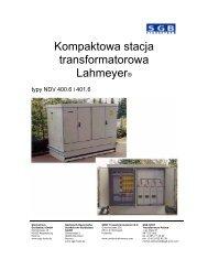 Kompaktowa stacja transformatorowa typy NDV 400.6 i 401.6