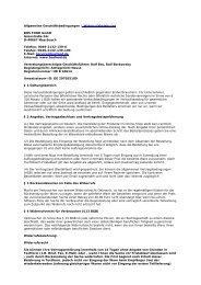Allgemeine Geschäftsbedingungen / Widerrufsbelehrung
