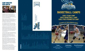 Girls Basketball Camp Brochure [PDF] - Cedarville University