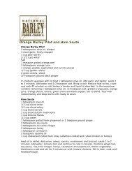 Orange Barley Pilaf and Ham Sauté - BarleyFoods.org