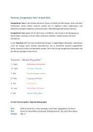 """""""Energetischer Tanz"""" ab April 2013 - Schule für Gesundheit und ..."""