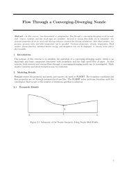 Flow Through a Converging-Diverging Nozzle - PhilonNet ...