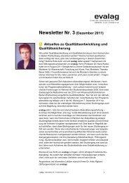 Newsletter Nr. 3 (Dezember 2011) - Evaluationsagentur Baden ...
