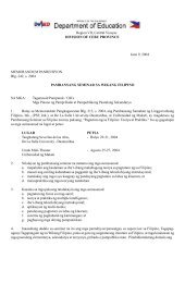Region VII, Central Visayas DIVISION OF CEBU PROVINCE June 9 ...