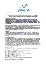 Malta zoekt reporter - TMC WORLD