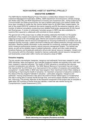 NSW Marine habitat mapping project - OzCoasts