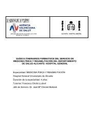 MEDICINA FISICA REHABILITACION - Agencia Valenciana de Salud