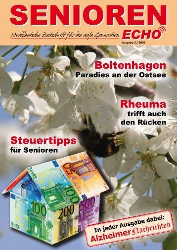 Ausgabe 2 / 2008 - SENIOREN-ECHO.de