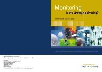 Monitoring the Region's Spatial Plans - West Midlands Regional ...