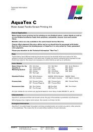 AquaTex C - water-based textile screen printing ink 2-2011 - Pröll KG