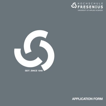 Download Application Form - Hochschule Fresenius