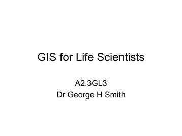 Introductory Lectures - School of Life Sciences