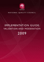 Validation and Moderation - Implementation Guide - National Skills ...