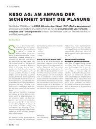 keSo aG: am anfanG der Sicherheit Steht die PlanunG - bueroffice.ch