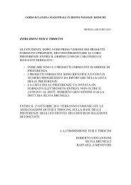 Istruzioni Tesi e Tirocini - Medicina e Chirurgia