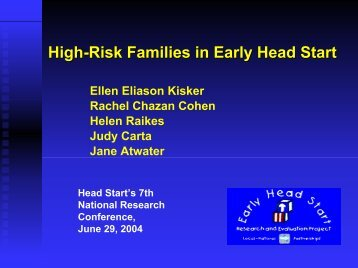 High-Risk Families in Early Head Start - Mathematica Policy Research
