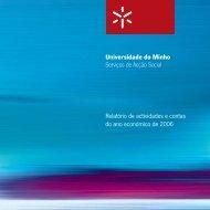Relatório de actividades de 2006 - Serviços de Acção Social da ...